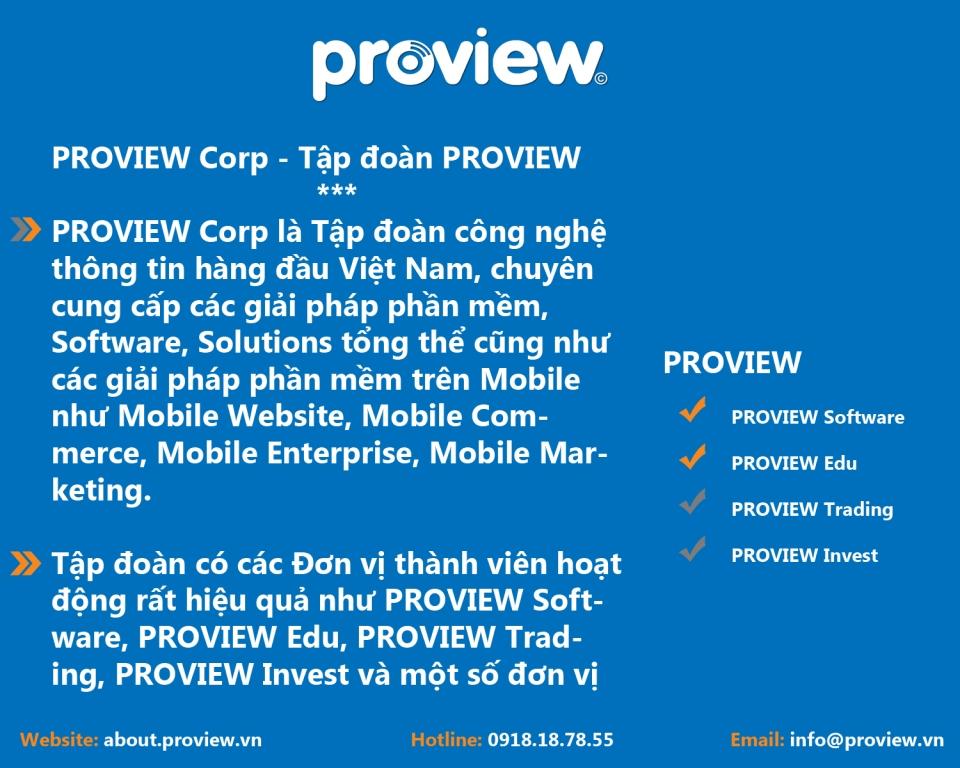 PROVIEW Corp I Tập đoàn PROVIEW